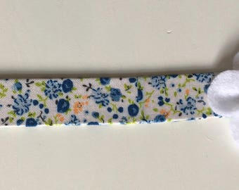 Blue and white bookmark