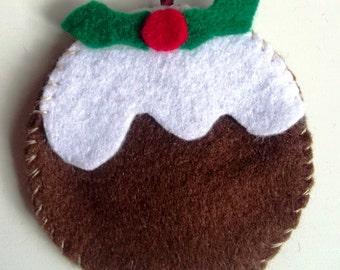 Christmas pudding tree decoration
