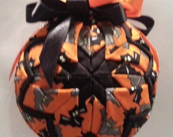 Halloween Bats Quilted Ornament