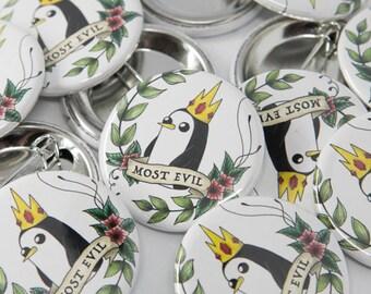 Penguin button art   Etsy