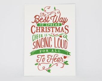Elf - A6 Movie Postcard - Spread Christmas Cheer - Christmas/Holiday Card.