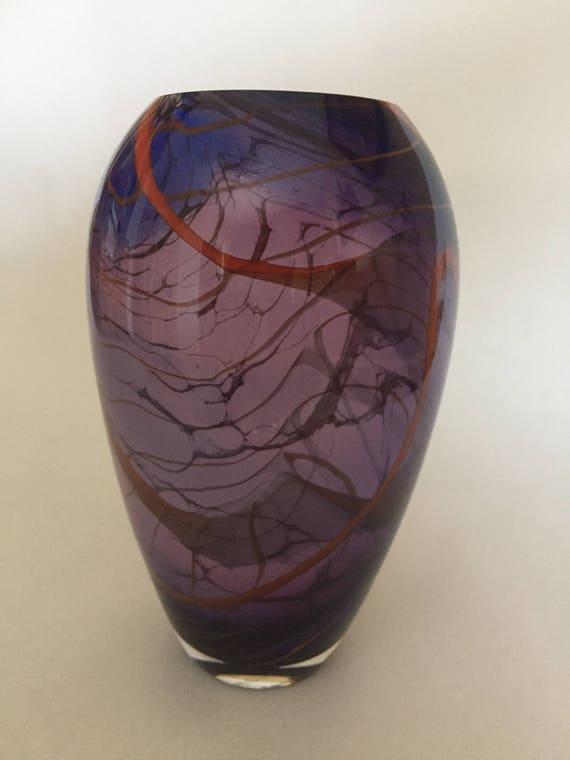 Glass Blown Vase Etsy