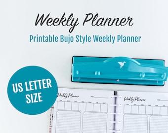 Daily Planner Letter, Letter Weekly Planner, Letter Bullet Journal, Planner Goal Tracker, Letter Planner Goal Tracker, Letter Bujo, Goals