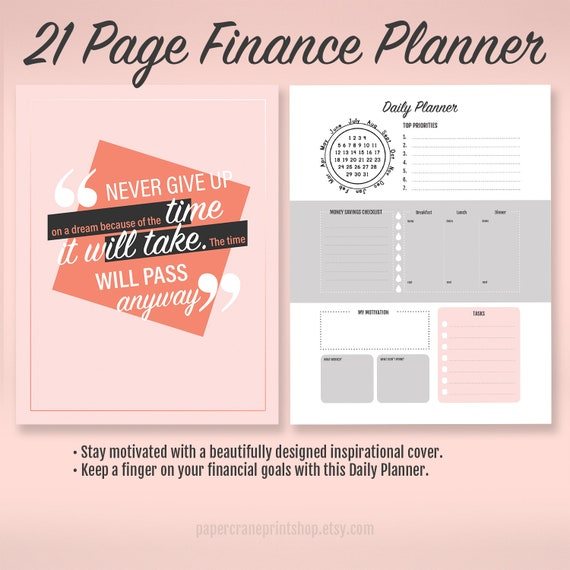 a4 budget planner a4 financial planner finance planner etsy