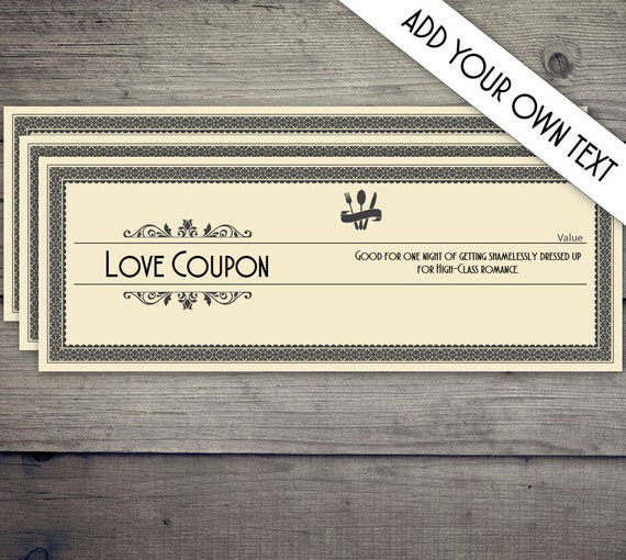 coupon book coupon template love coupon date night coupon etsy