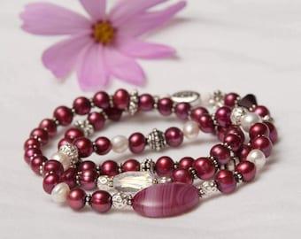 The Arlene Handmade Gemstone & Swarovski Crystal Stretch Bracelet