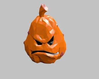 Pumpkin mask paper templates DIY