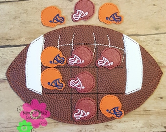 Football Tic Tac Toe Game: Customize for you favorite team FREE SHIPPING