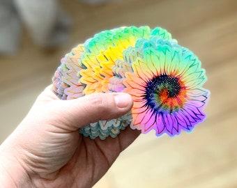 Tie Dye Hibiscus Flower Sticker 70 Peace Love Cup Laptop Car Window Bumper Decal