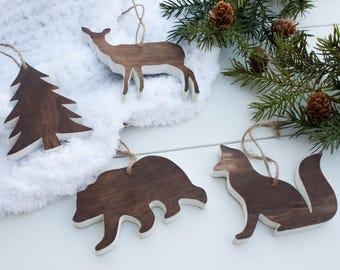 Woodland Ornaments - Handmade Ornament - Rustic Christmas - Rustic Ornaments - Woodland Christmas