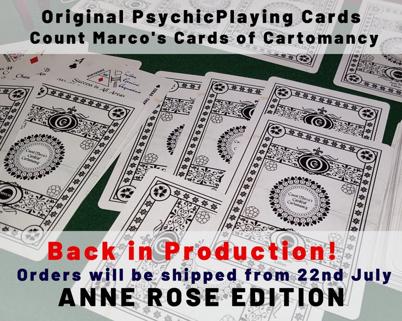 PSYCHIC PLAYING CARDS Start Reading Now The Anne Rose Deck  image 0