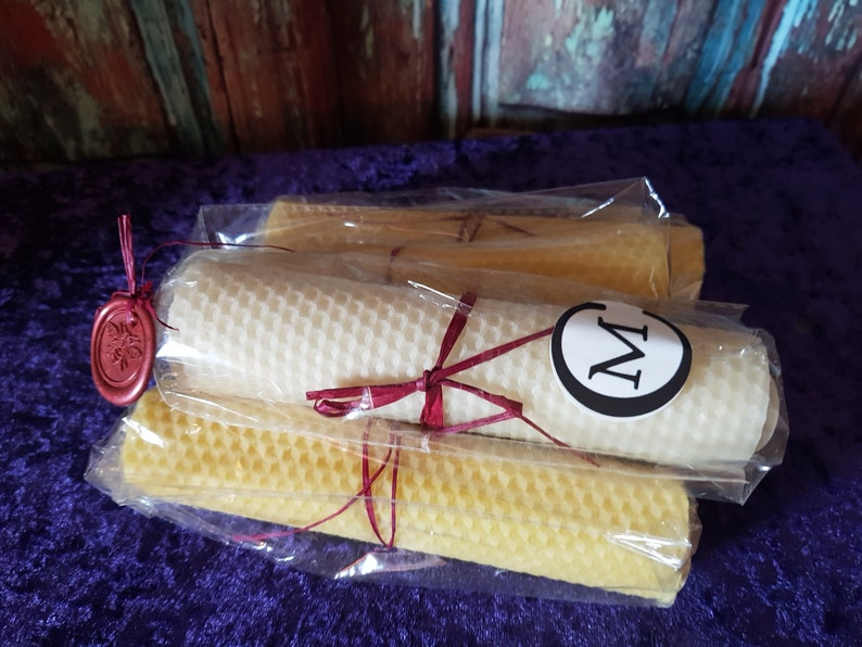 Ritual Beeswax Candle  Hand Rolled Votive Candle image 0