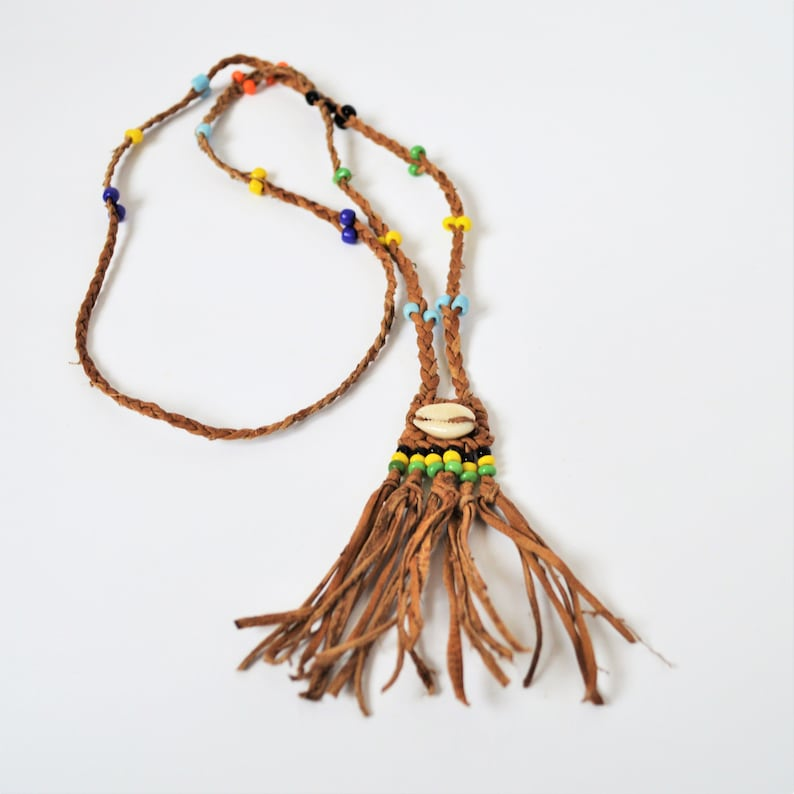 Country girl outfit Seashell braided Leather African Hawai cowrie necklace Beach beaded necklace Surfer necklace Girl necklace