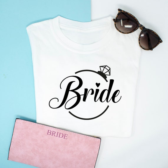 42d401fb8 Personalised Future Bride To Be Top Wedding Role T-shirts | Etsy