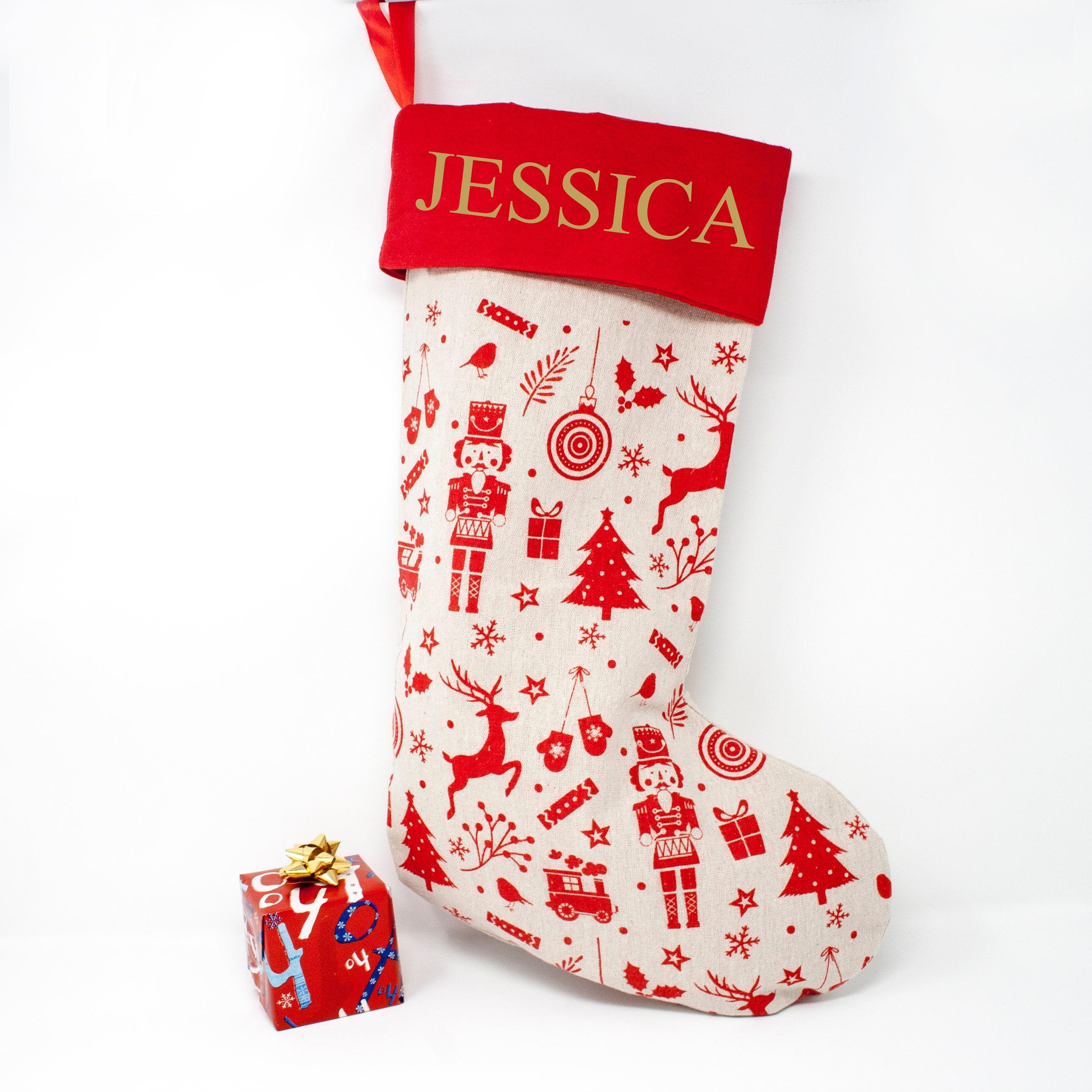 Personalisierte Weihnachts-Strumpf Weihnachtsstrumpf   Etsy