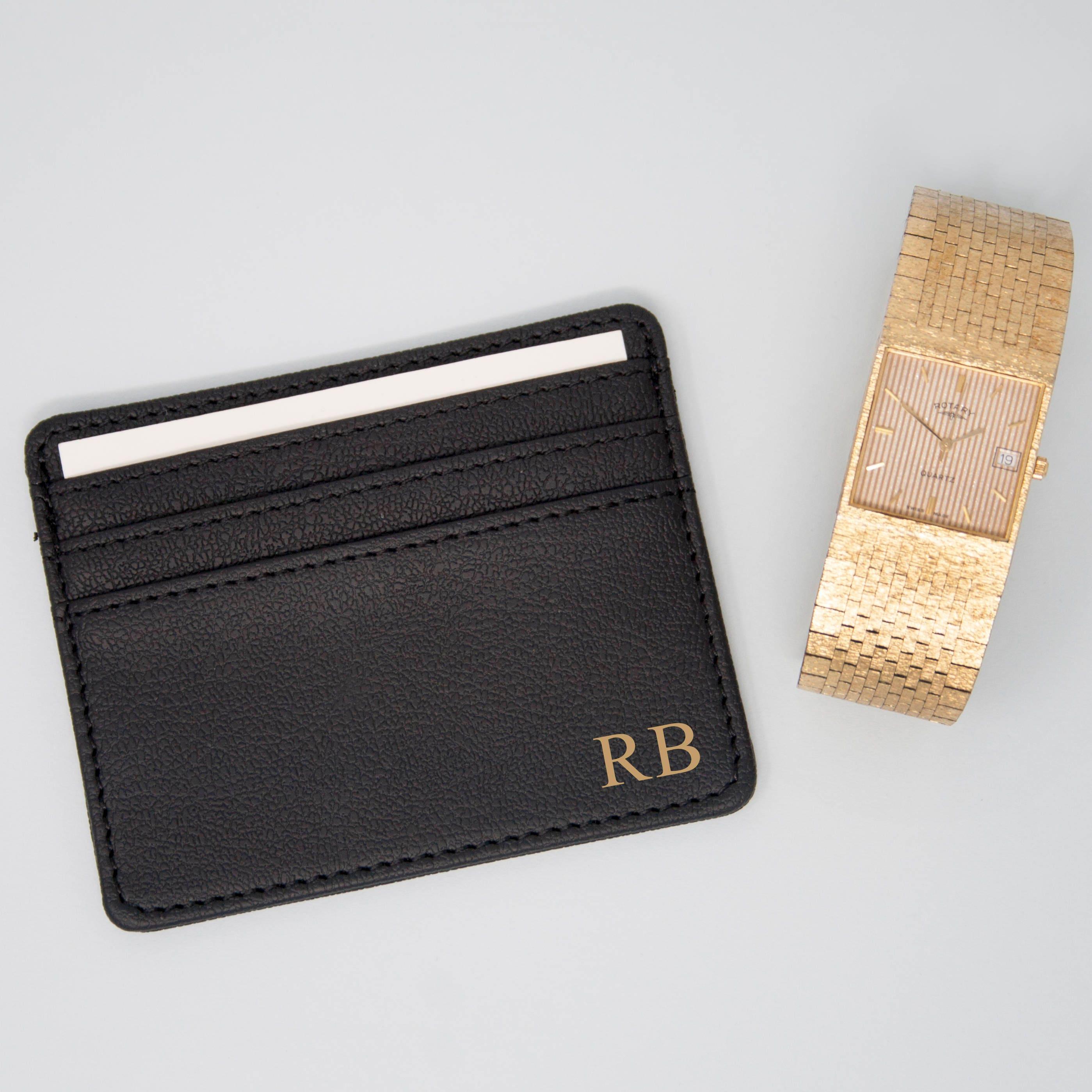 size 40 6ccc6 a7e9d Men's Monogram Card Holder, Men's Initial Credit Card Wallet, Men's Travel  Wallet Holder, Groomsmen Gifts, Valentine's Gifts for him