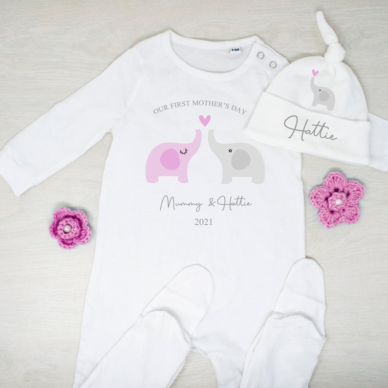 Our First Mother/'s Day Baby Romper Mother and Baby Gifts New Mum Mother/'s Day Gifts First Mother/'s Day Baby Vest Mother/'s Day Gifts