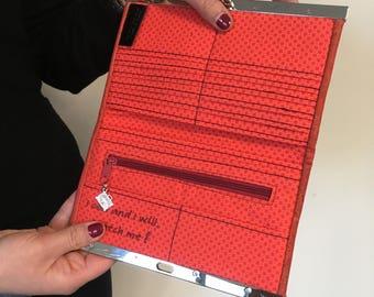 Rozy, a slimline wallet PDF pattern