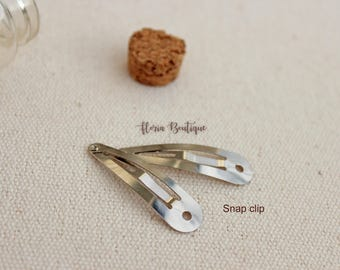 5 Plain snap hair clips-small toddler size-hair accessories-DIY materials