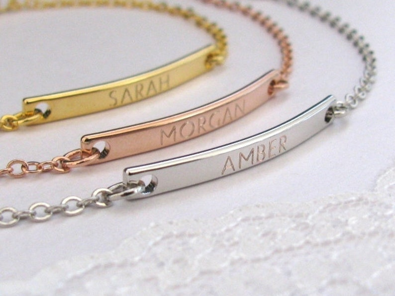 name or coordinate Personalized Bracelet for her  in Gold Plated Silver Plated or Rose Gold Plated Personalized with date
