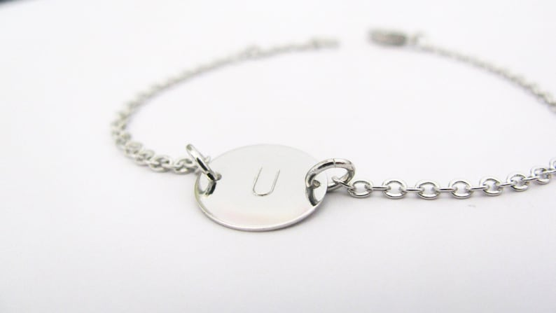 Silver Initial Charm Bracelet \u2013 Add Up to 3 Charms \u2013 Also in Gold or Rose Gold