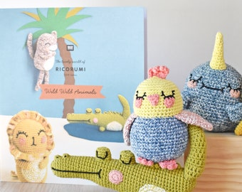 Ricorumi Wild Wild Animals Crochet Pattern Booklet