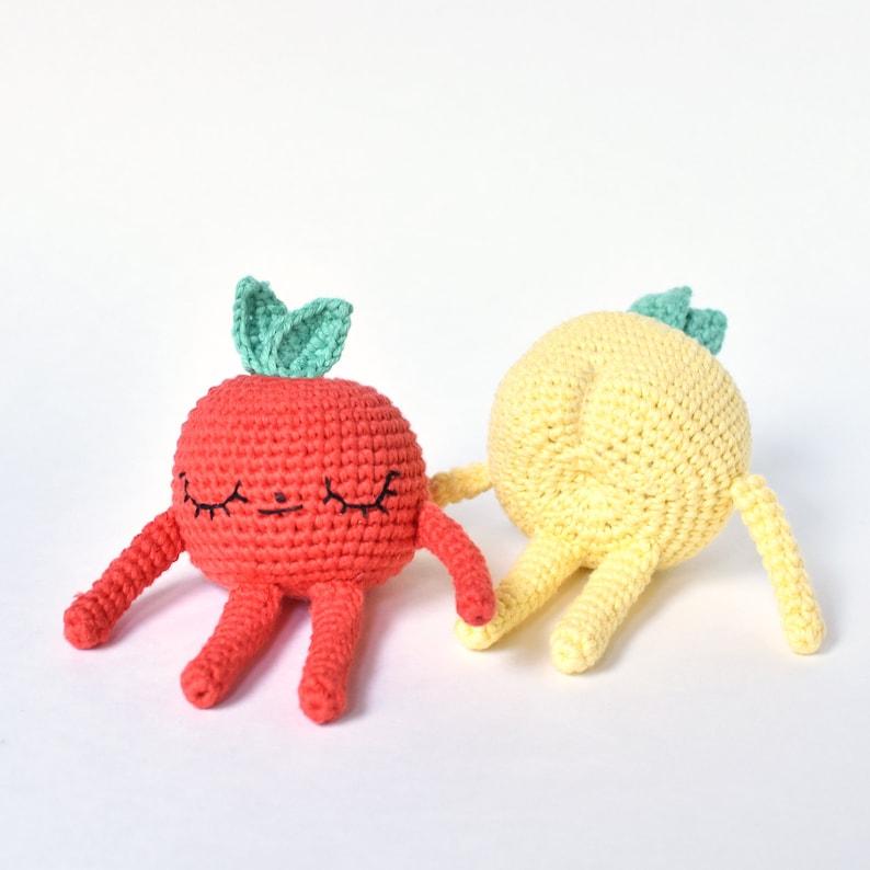 Apple Crochet Pattern  Tiny Curl Amigurumi Pattern Crochet image 0