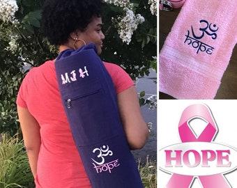 Lightweight Polyester Namaste Yoga Bag; Purple Yoga Tote Bag; Pink Namaste Tote Bag
