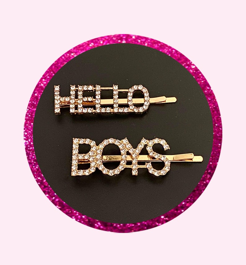 Hello Boys Hair Clips