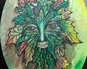 Green Leaf Man