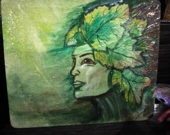 Green Leaf Lady