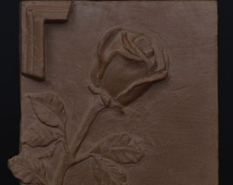 Rose - Self-standing relief tile