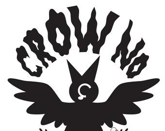 Crow No! Sticker