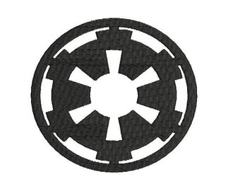 6 sizes - Star Wars Empire Symbol Embroidery Design, Star Wars Embroidery Design, Empire Embroidery Design, Instant Download, Galactic Wars
