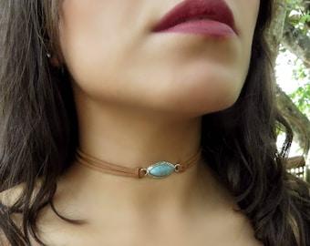 Turquoise Choker, Native American Jewelry Inspiration, Choker Necklace, Suede Choker Necklace, Bohemian Turquoise Necklace, Boho Jewelry