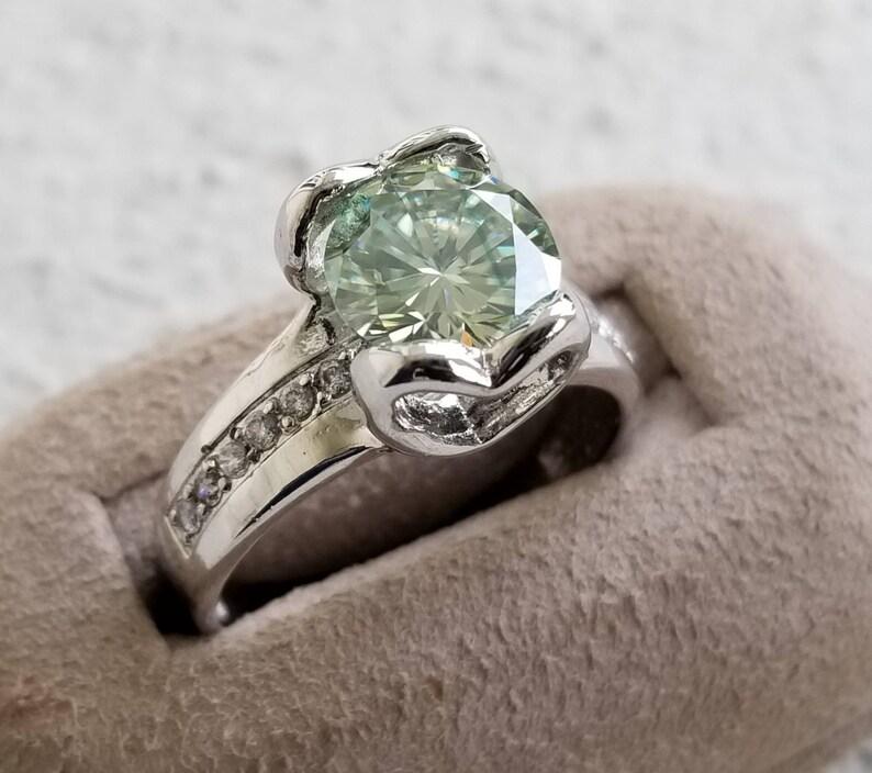 Moissanite Heart Ring.