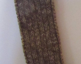 Knitted Taupe Scarf