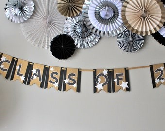 Class of 2018 Banner - CUSTOMIZED Graduation Banner - Graduation Banner - Graduation Party - Graduation Decorations - Black and Gold