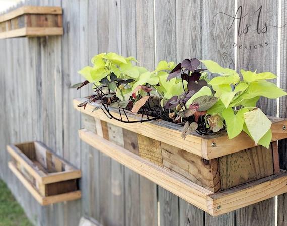 Vertical Wood Planter Box Hanging Gardening Box Hanging Etsy
