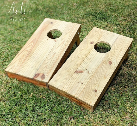 Brilliant Wood Cornhole Boards Game Wood Bean Bag Toss Baggo Tailgating Outdoor Wedding Christmas Gift For Him Birthday Present Thanksgiving Pdpeps Interior Chair Design Pdpepsorg