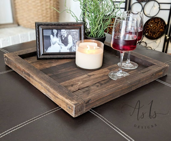 Pleasant Wood Ottoman Tray Oversized Ottoman Coffee Table Large Wooden Tray Pouffe Top Cover Bed Tray Anniversary Gift Wedding Thanksgiving Pdpeps Interior Chair Design Pdpepsorg