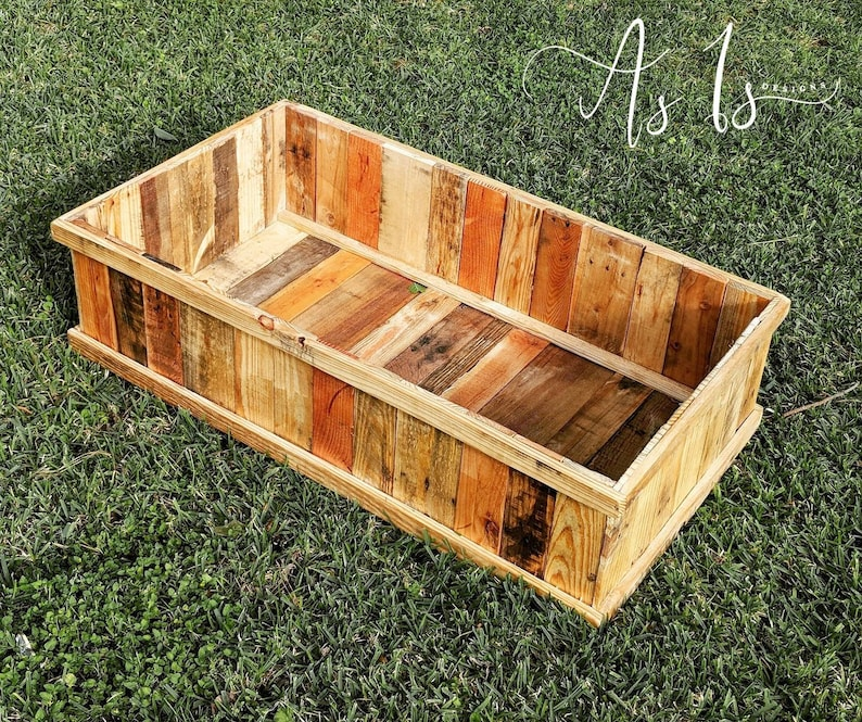 Raised Garden Box Solid Wood Planter Box Farmhouse Garden Wood Planter Raised Garden Planter Garden Box Raised Flower Box Planter Bed