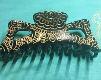 """Hand painted Hair Clips (5"""")"""