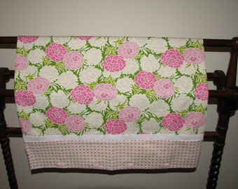 Pillow Case - Pink Flowers/Tiny Hearts - Item Code 3007