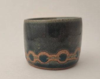 Tiny Blue Ceramic Cup