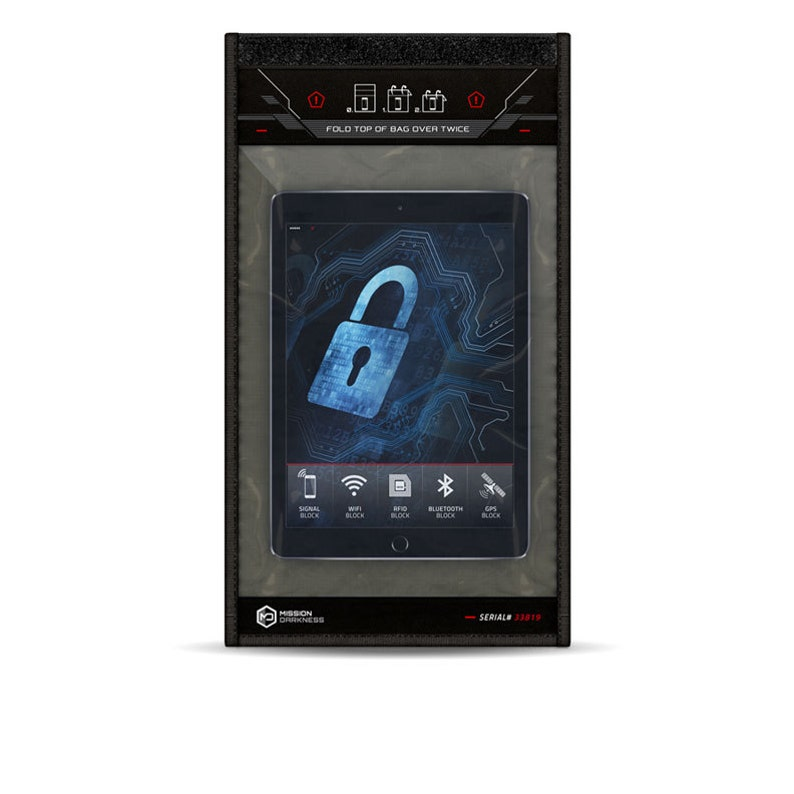dc0d299a9274 Mission Darkness Window Faraday Bag for Tablets - 5th Gen Shielding for Law  Enforcement and Military