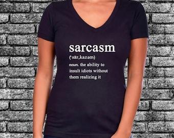 Sarcasm Funny Definition Glitter Ladies Shirt | Funny | Sarcastic | Humor