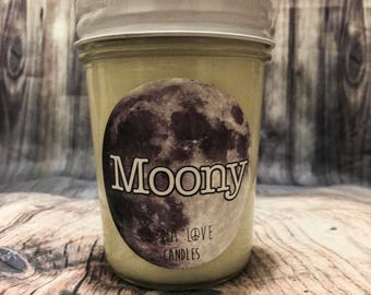 8 oz 100% Soy Moony Scented Candle