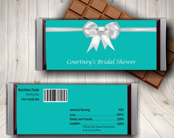 Breakfast At Tiffany Candy Bar Wrapper Blue Bridal Shower Printable And Co Sweet 16 Party Baby Chocolate Wrap