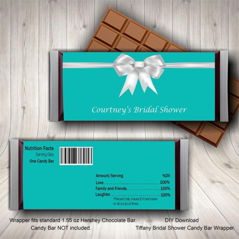 6f7d7a6fa9ad Breakfast at Tiffany Candy Bar Wrapper Tiffany Blue Bridal